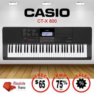 Casio Music Sale!! Casio CT-X 800 keyboard with exclusive PWP offers!