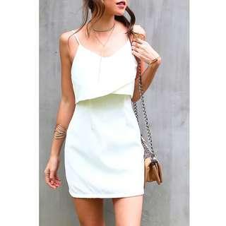 🚚 BNWT🎉 KIN Arielle Tiered Dress in White