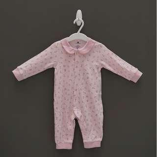 Baby Romper in Pink with small flowers