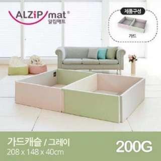 韓國 Alzipmat 200G 圍欄+地墊 原裝進口(地墊:200*140 cm 圍欄:208*148*40 cm)