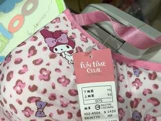 🚚 全新~美樂蒂豹紋內衣,華歌爾台灣製75D清衣櫥特賣(11/28免運超取優惠)