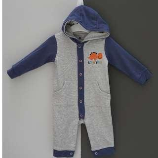 Baby Romper Dino with hoodie