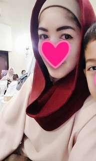 Hoodie hijab Maroon and white (bundling)like new