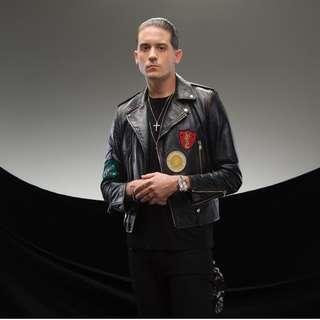 New YSL SAINT LAURENT patch embroidered leather jacket