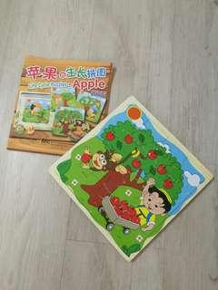 4 in 1 wooden puzzles