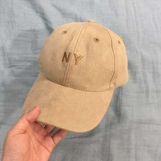 🚚 NY 卡其絨布棒球帽 鴨舌帽