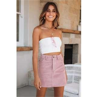🚚 BNWT🎉 HELLO MOLLY Way Past That Skirt in Blush, XS