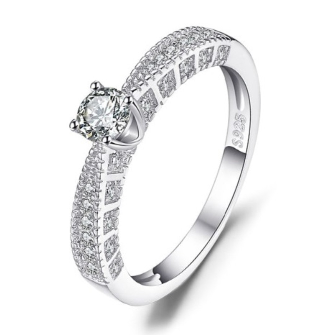 Verlobungsring Zirkonia 925 Sterlingsilber Damen-ring
