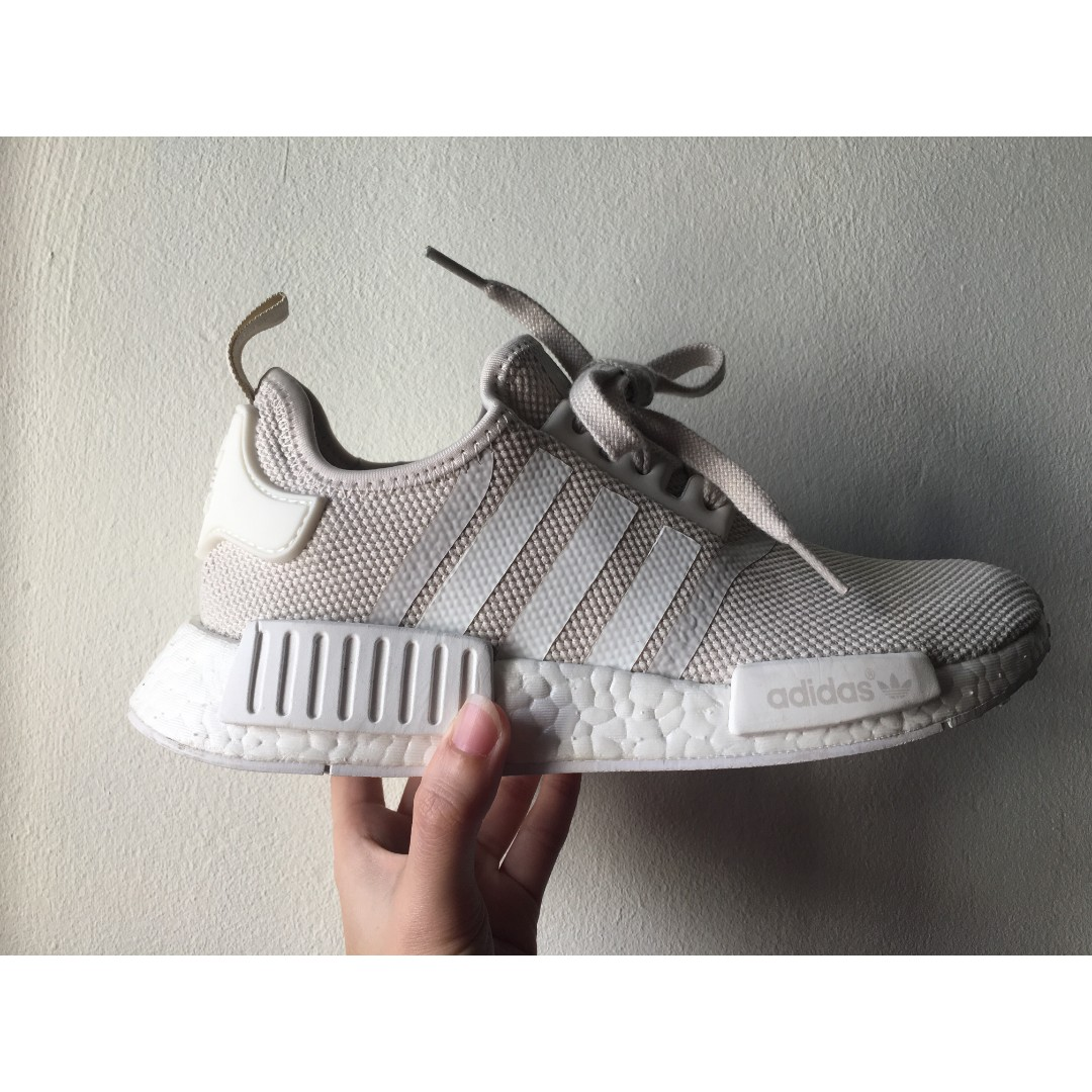 d5553fd4730f ADIDAS NMD R1 OFF WHITE WOMEN (Condition 9 10)