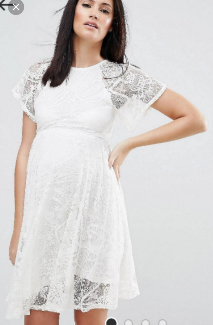 983f474d822a2 ASOS Maternity White Lace Skater Dress, Women's Fashion, Clothes, Dresses &  Skirts on Carousell