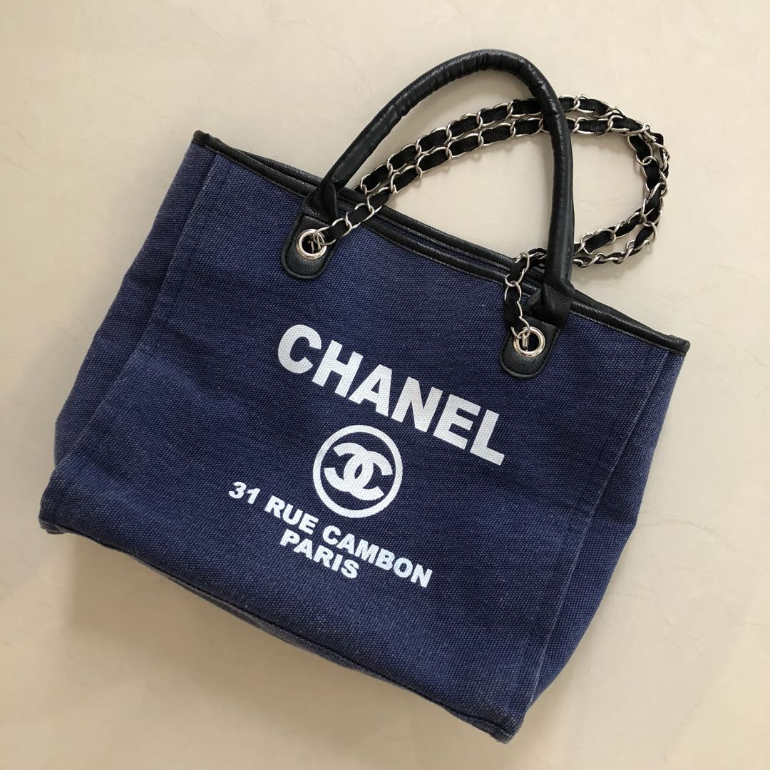 9ab2a408efc8 Authentic Chanel tote VIP GIFT, Luxury, Bags & Wallets on Carousell