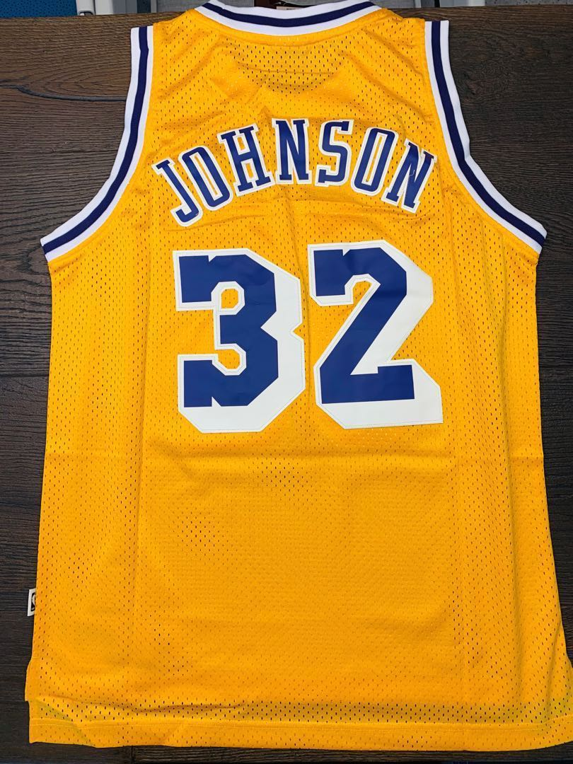 newest 05481 571d8 【割價】Authentic Retro Magic Johnson Lakers Jersey