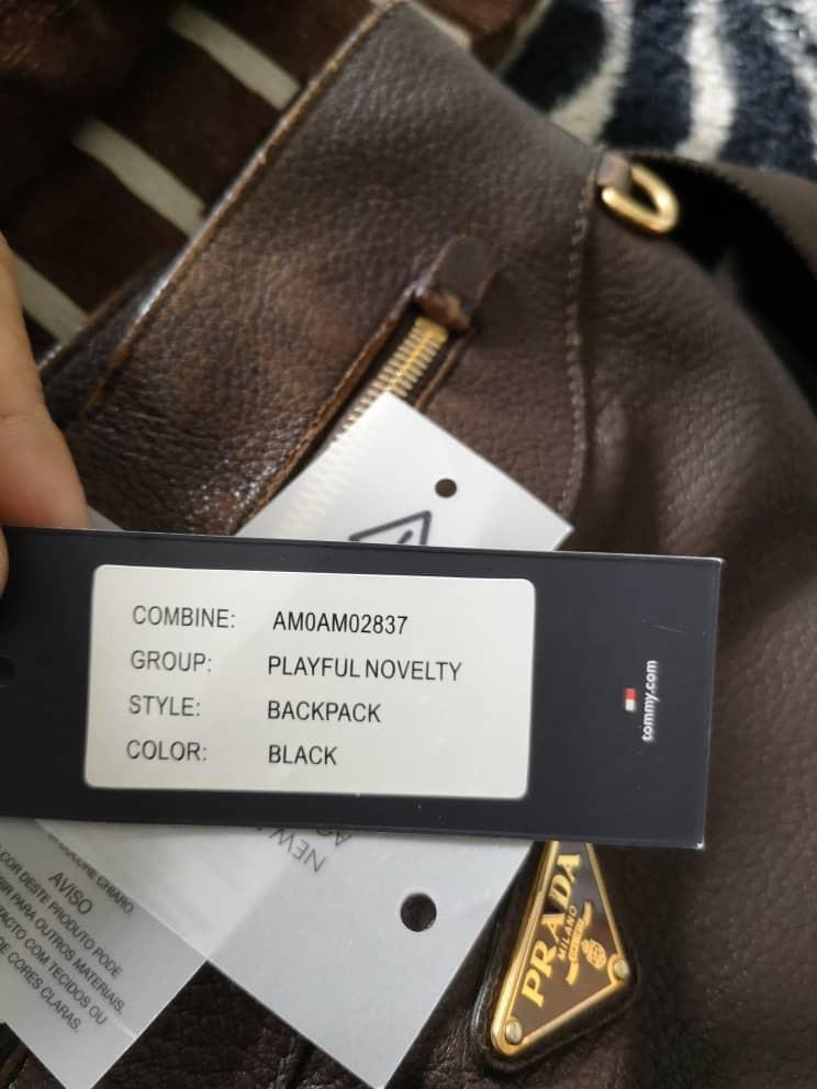 Authentic Tommy Hilfiger Playful Novelty Backpack, Men's Black