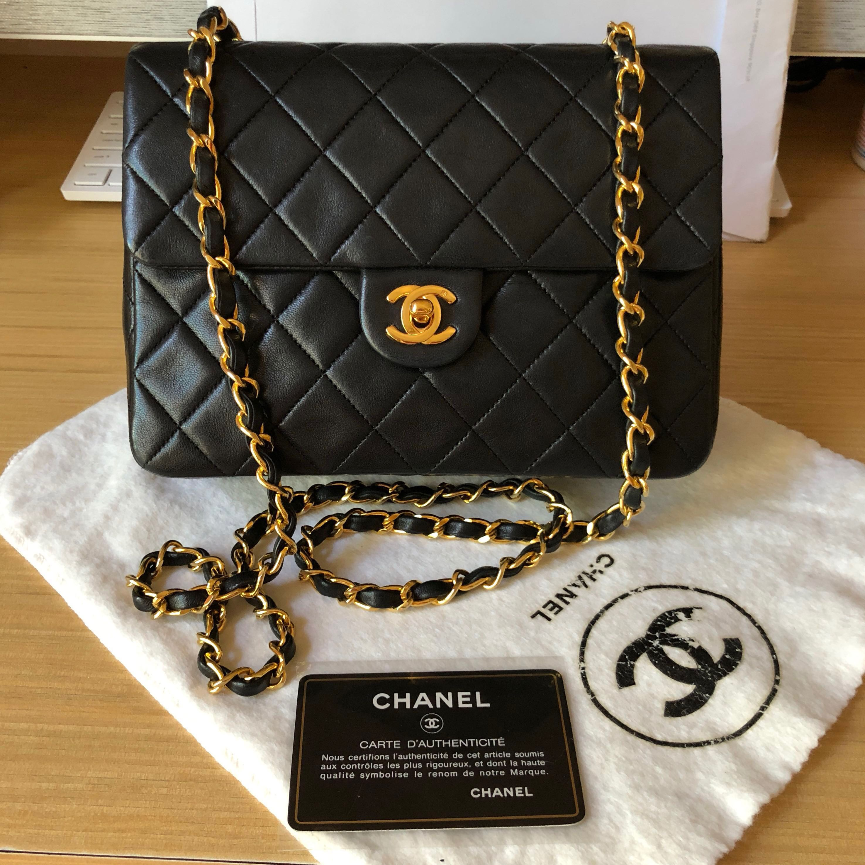 5d24dbfe3643 Authentic Vintage 20cm Square Mini GHW, Luxury, Bags & Wallets, Handbags on  Carousell
