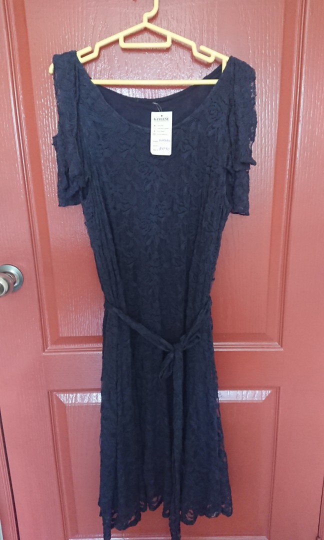 f4ac2976964 BNWT Blue Lace Cold Shoulder Tunic Top by Kaylene Plus Size UK 16 ...