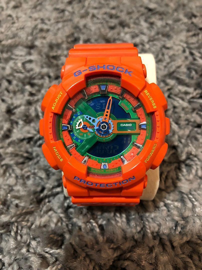 8c09dbce91c Casio G-Shock Orange   Green GA 110-A