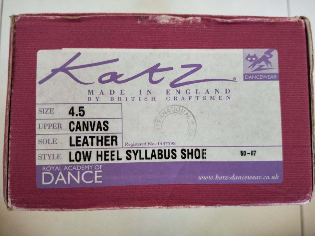 Girls RAD Character Syllabus Ballet Dance Shoes Low Heel By Katz Dancewear
