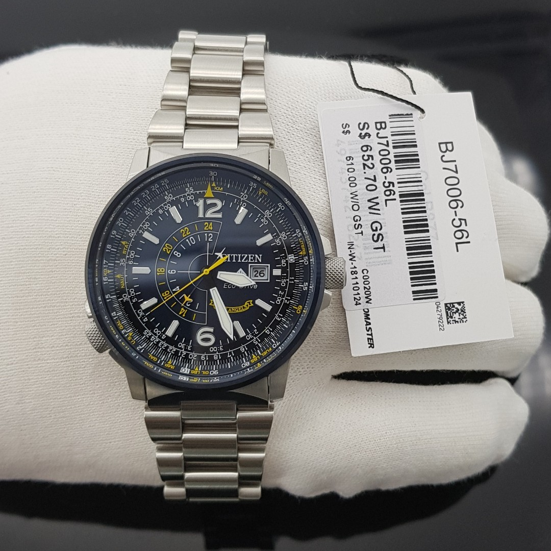9f44e9bc59b Citizen Promaster Eco-Drive BLUE ANGEL NIGHTHAWK Stainless Steel ...