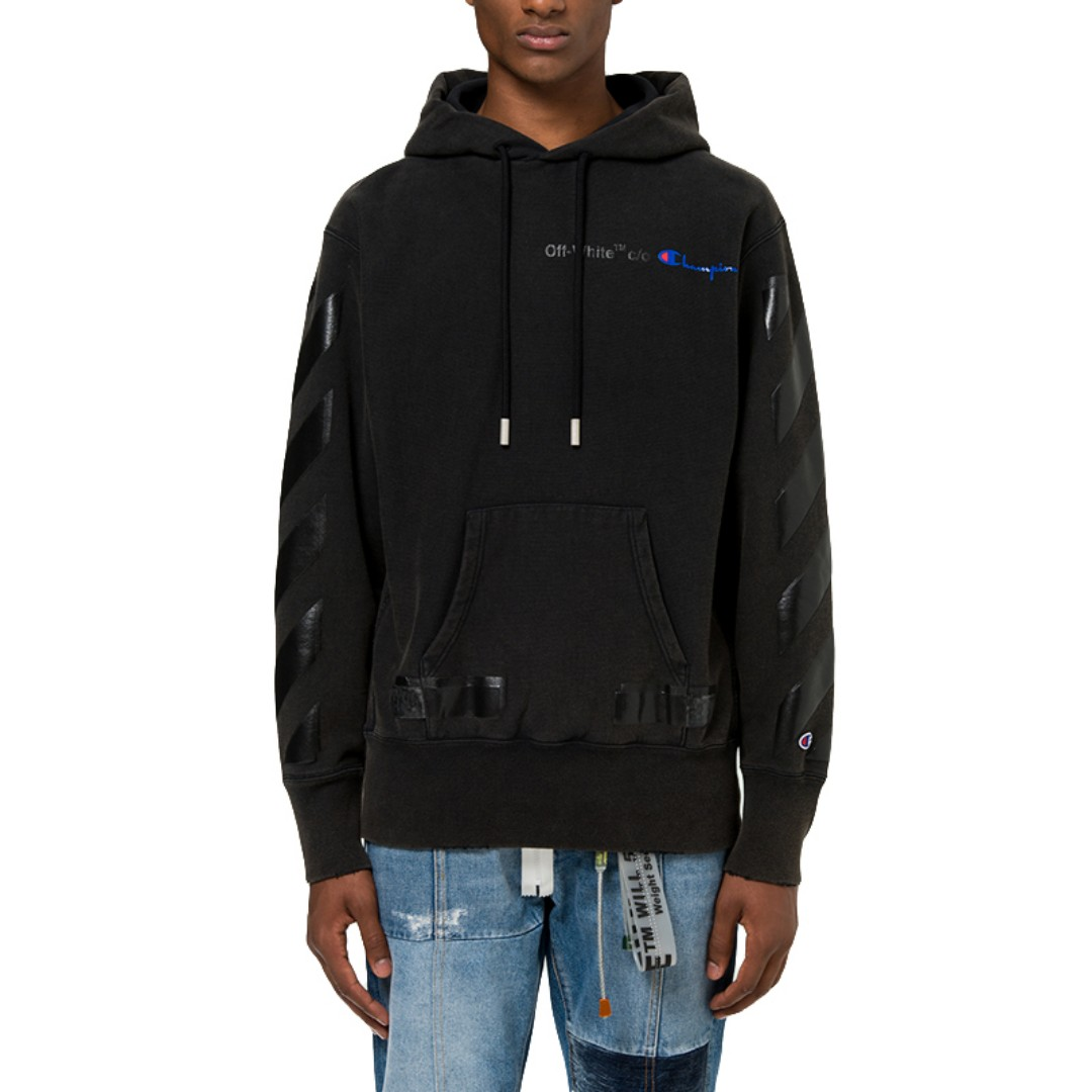 55c7404ae1a9  CLEARANCE  Off White 18SS Champion Hoodie