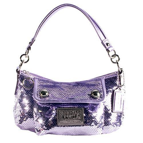 Coach Poppy Sequins Groovy Shoulder Handbag 62c0ee1029