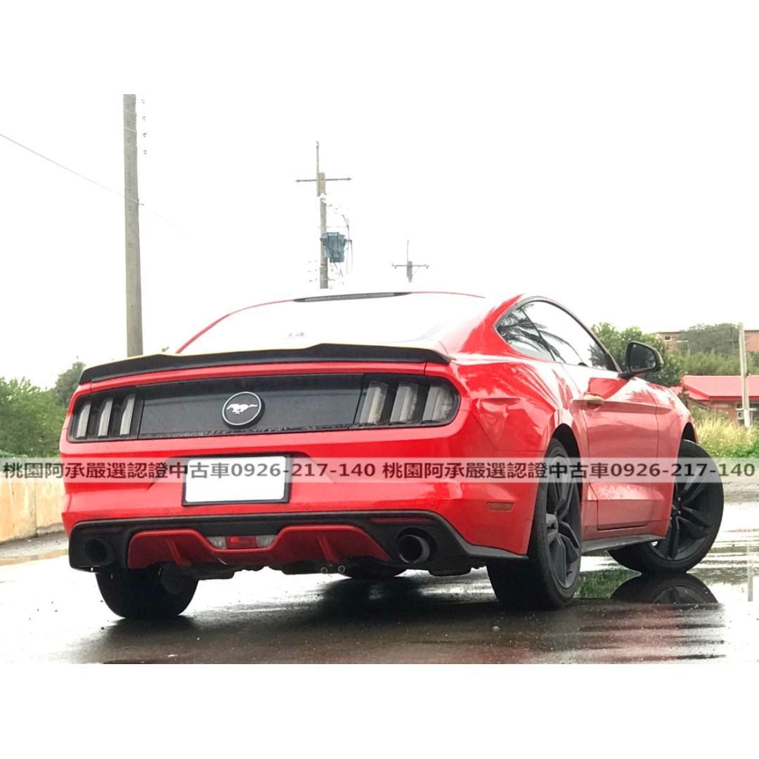 【FB搜尋桃園阿承】福特 超人氣MUSTANG野馬 2015年 2.3 紅色 二手車 中古車