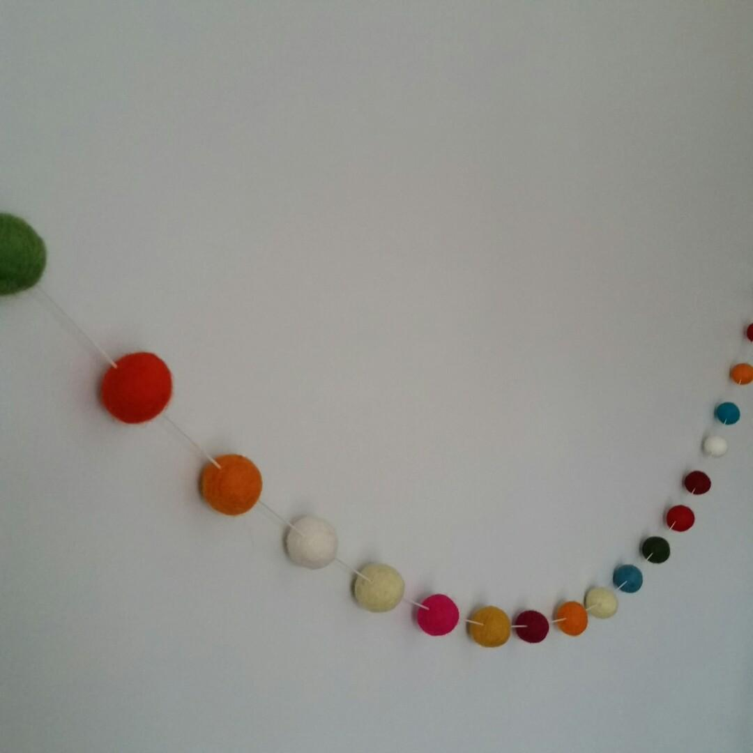 Felted Wool Balls Wall Decor