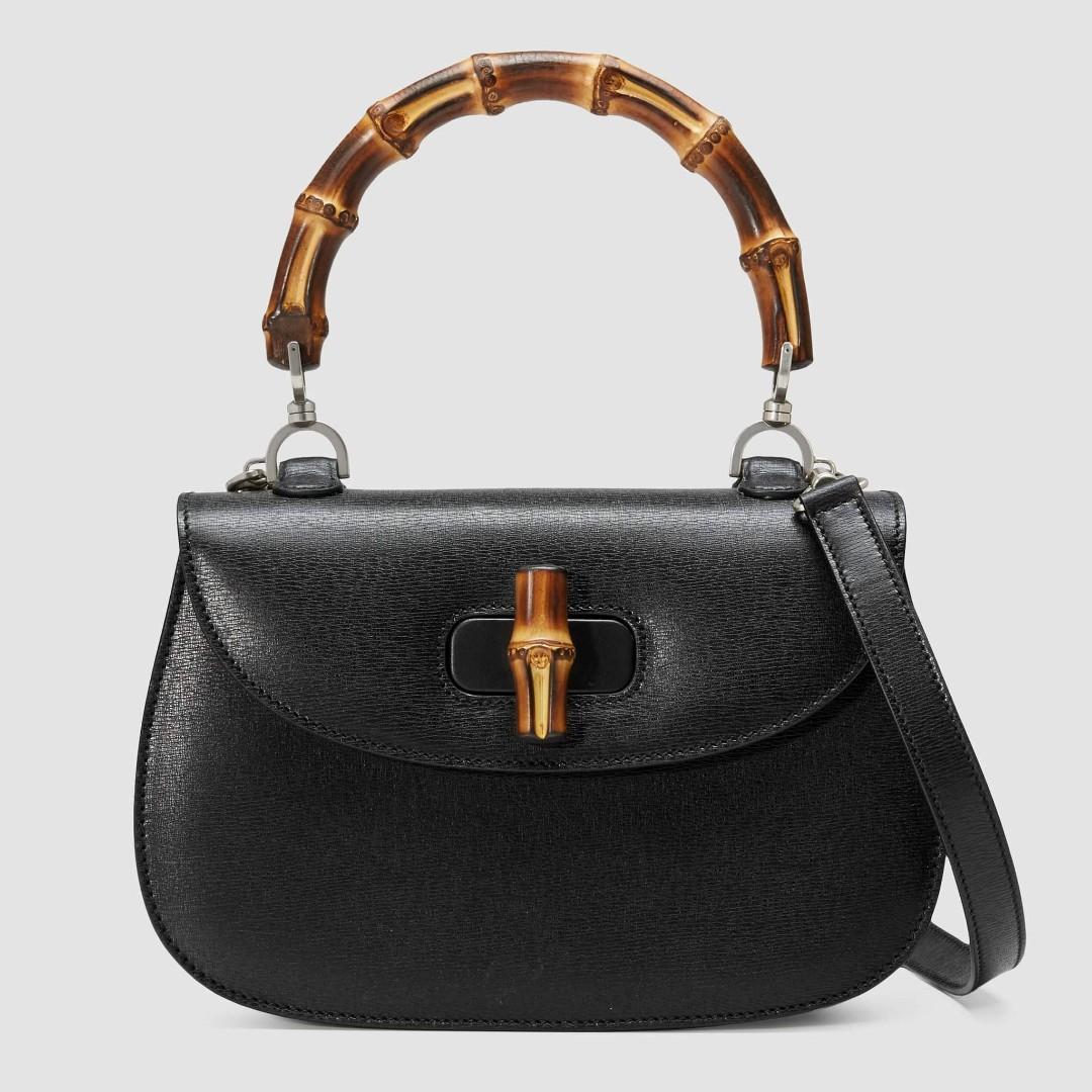 e72365b4ab Gucci Bamboo Mini Leather Bag