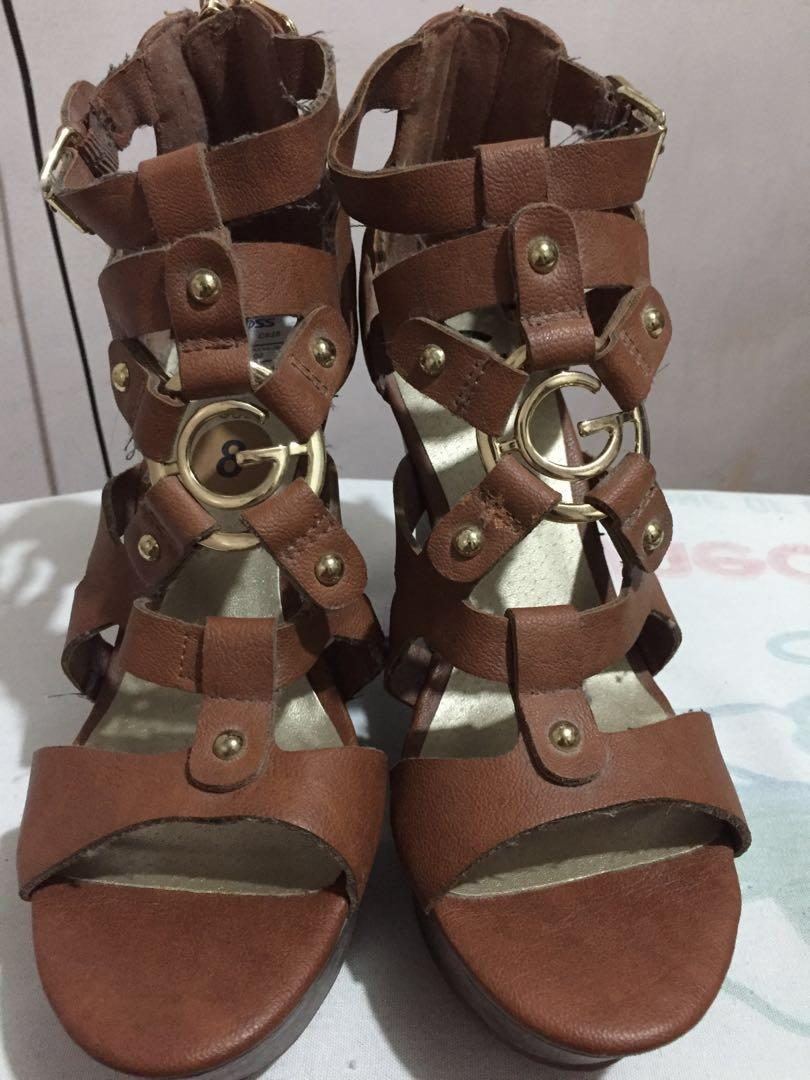 Dodge Carousell SandalswhiteOn Wedge Strappy Guess dxWCeorBQ
