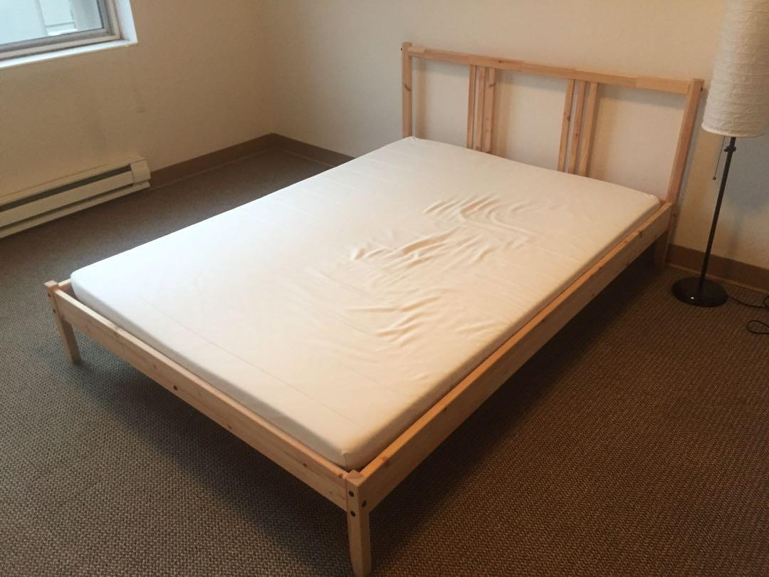 Ikea Fjellse Bed Frame With Mattress