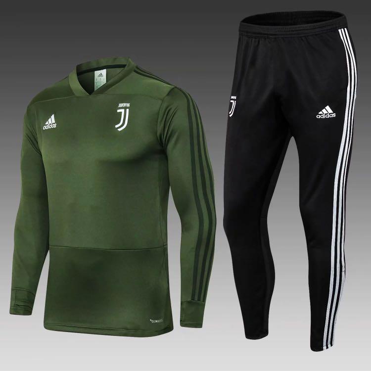 buy online d4826 bafa2 Juventus Training Kit Green, Men's Fashion, Clothes, Tops on ...
