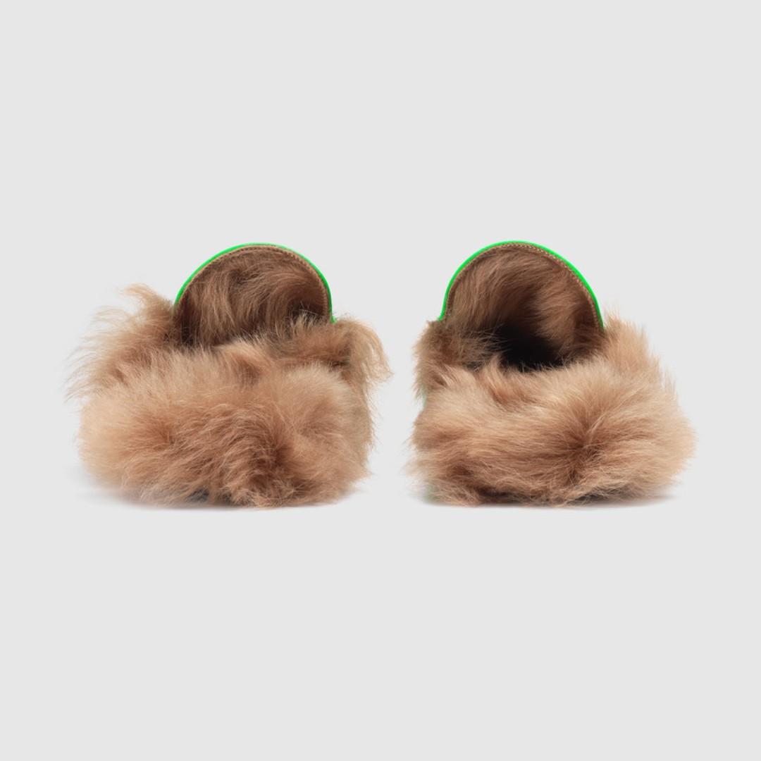 733c8d3b5ba Men s Green Princetown fluorescent leather slipper