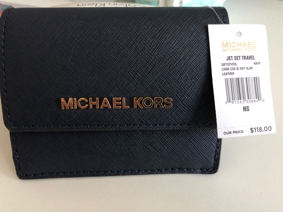 053feca09a77 Michael Kors Card Case ID Key Holder, Women's Fashion, Bags & Wallets,  Wallets on Carousell