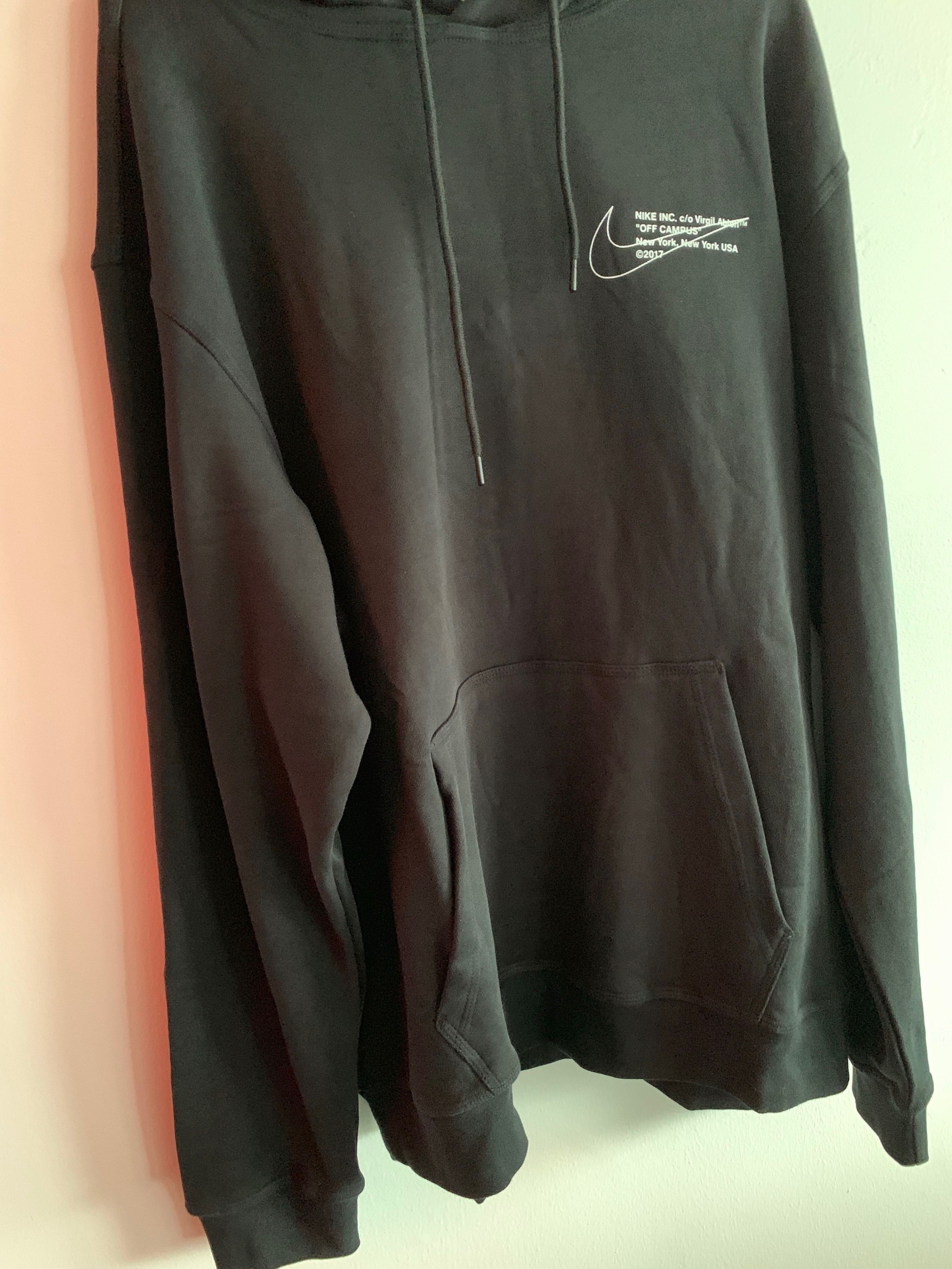 908c31a85116 Nike x Off White OFF Campus Hoodie collab NYC exclusive