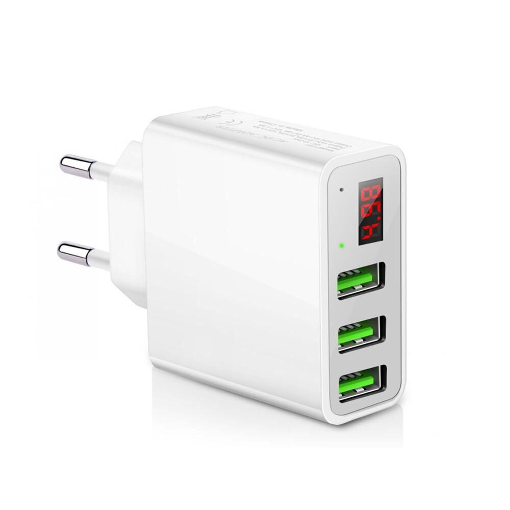 Powstro Universal 5V 3A 3 USB Charger With Voltage Display