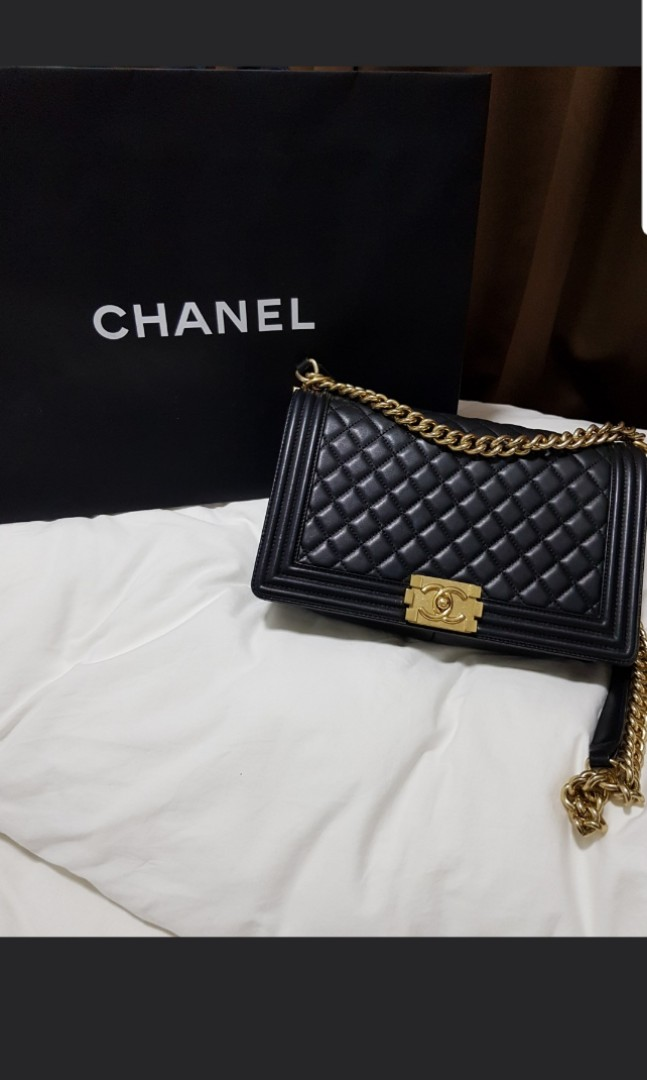 79208eda15d0 SALE ! Chanel New Boy Medium GHW lambskin, Luxury, Bags & Wallets ...