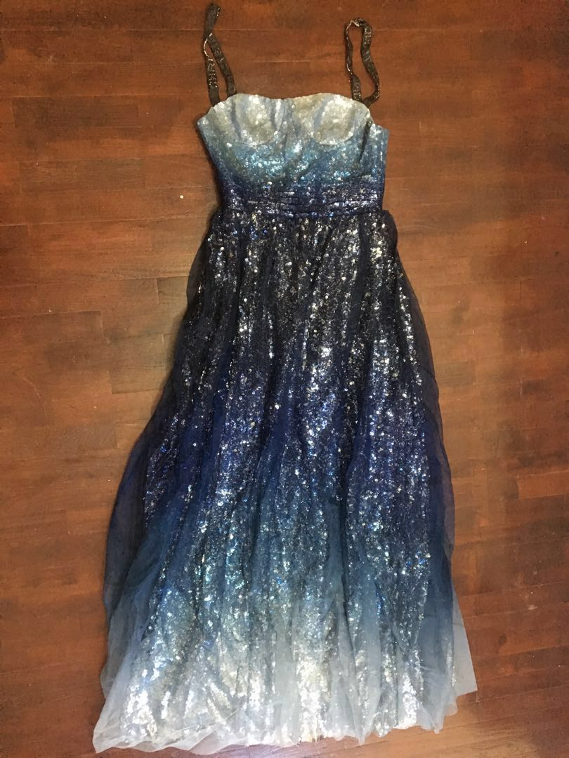 Starry Night Prom Dress Party Evening Gown Womens Fashion Clothes
