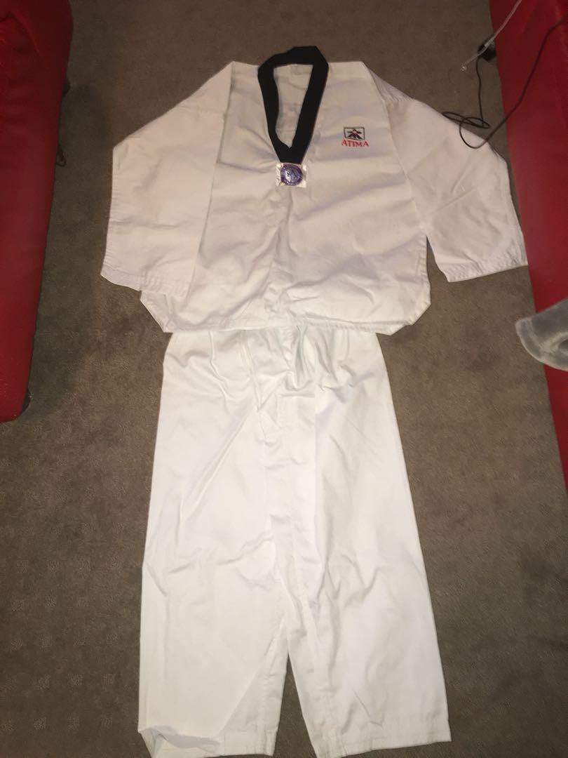Tae Kwon Do Black Belt Uniform 160cm