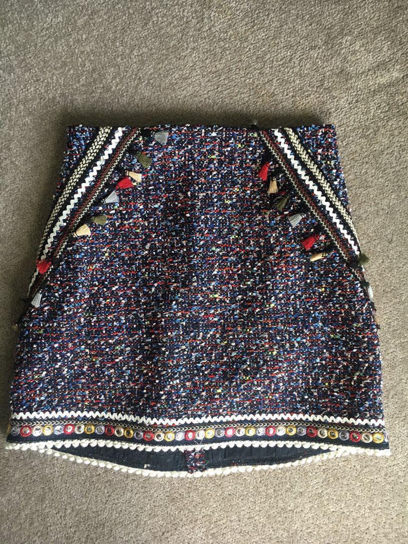 Zara skirt worn once, size USA M