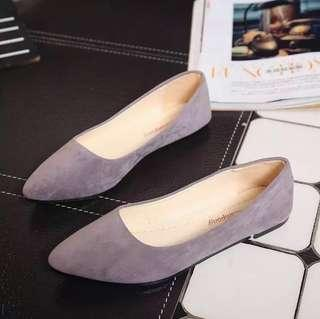 1cm grey suede leather shoes