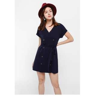 Lovebonito quentina button front mini dress