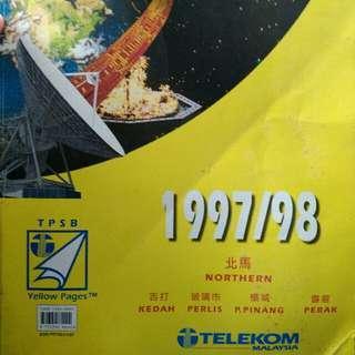 Vintage Yellow Book Telekom 1997/1998