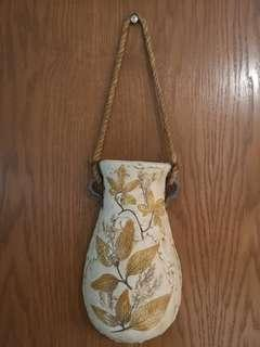 Vintage ceramic hanging wall vase