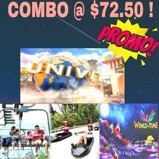 COMBO DEALS - Universal Studio USS | Luge and skyride | Wings Of Time