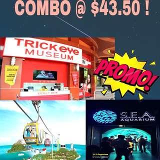 COMBO DEALS - Cable car | Sea Aquarium | Trick Eye