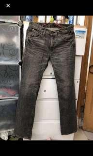 W30日版🇯🇵Levi's 皮牌502灰黑色靚洗水💦牛仔褲👑記得follow 我,重有大量👖