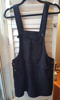 Black Overall Dress F21