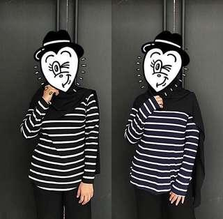 Turtleneck Stripe Shirt #BlackFriday100