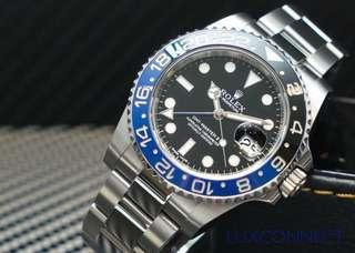 Rolex 116710BLNR GMT-Master II Ceramic Black and Blue Bezel SS UNWORN