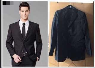 男裝 男士 黑色 西裝褸 西裝外套 禮服 晚服 兄弟服 喜宴新郞裝(A)