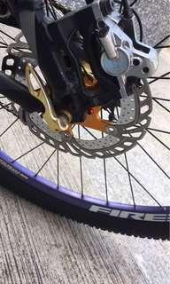 Fireeye rim set w/ ltd edition Chosen Hub Gold in Continental Raceking Tire